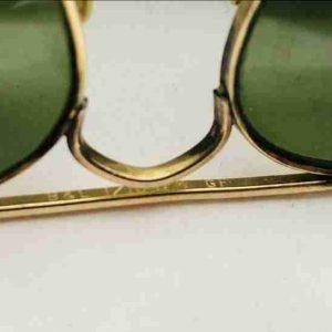 Vintage B&l Ray-Ban 1/10 12k GF Frames Gold Aviator 1950s